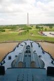 Texas Battleship & San Jacinto Monument royalty free stock image