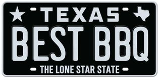 Texas Best BBQ License Plate royalty free illustration