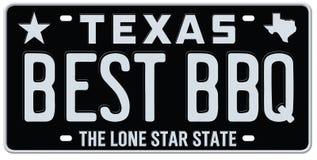 Texas Best-BBQ Nummerplaat royalty-vrije illustratie