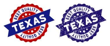 Texas Best Quality Stamp con struttura Grungy Immagini Stock Libere da Diritti