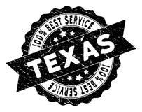 Texas Best Service Stamp con struttura Grungy Fotografia Stock Libera da Diritti
