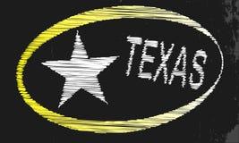 Texas Blackboard Lizenzfreies Stockbild