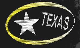Texas Blackboard. A blackboard with a chalk word Texas Royalty Free Stock Image