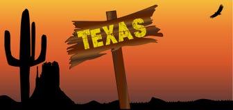 Texas Border Sign Stock Image