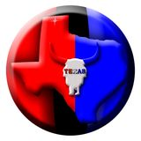 Texas Button Royalty Free Stock Photo