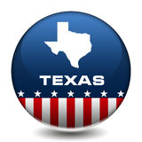 Texas. Button of the US State of Texas Royalty Free Stock Image