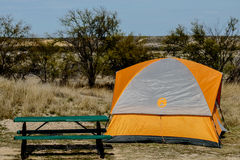 Texas Campsite. A campsite near Lake Amistad when the water was down Royalty Free Stock Photo
