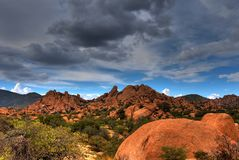 Texas Canyon. Stormy weather in Texas Canyon in Southeast Arizona Royalty Free Stock Photos