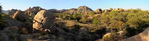 Texas Canyon Panorama Royalty Free Stock Photo