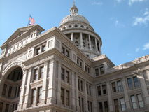Texas Capitol. State of Texas Capitol building seen from a south east point of view. Serves as Texas government legislative building. The dome is the tallest stock photo