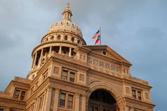 Texas Capitol. At sunset on a cloudy day Royalty Free Stock Photo