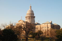 Texas Capitol. Full picture of the Texas State capitol building at sunset royalty free stock photos