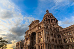 Texas Capitol bij Zonsondergang stock foto's