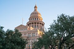 Texas Capitol Building. In the Capital city of Austin Royalty Free Stock Image