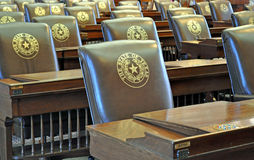 Texas Capitol Chairs. In Austin Stock Image