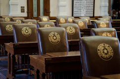 Texas Capitol Chairs Royaltyfri Fotografi