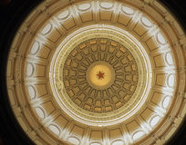 Texas Capitol Dome (inside). In Austin Texas, looking up at the Texas Capitol's Dome from the rotunda floor royalty free stock image