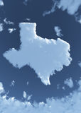 Texas in Clouds Stock Photography