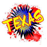 Texas Comic Exclamation. A comic cartoon style TEXAS exclamation explosion over a white background Royalty Free Stock Image