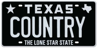 Texas Country Music License Plate stock illustration