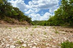 Texas Creek Bed Imágenes de archivo libres de regalías