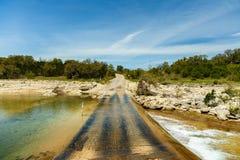 Texas Creek Road Photo stock