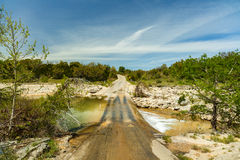 Texas Creek Road Royalty Free Stock Images