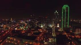 Texas Dallas aéreo video estoque