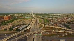 Texas Dallas aereo video d archivio