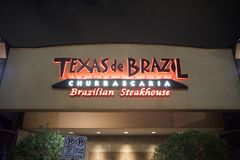 Texas De Brazil Brazilian Steakhouse. Texas de Brazil is a family owned churrascaria Brazilian steakhouse restaurant chain with locations both internationally royalty free stock photo