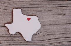 Texas deu forma à cookie de açúcar Imagens de Stock