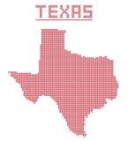 Texas Dot Map Stock Photography