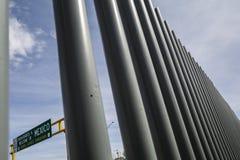 Texas - El Paso - The border. With mexico stock photo
