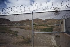 Texas - El Paso - The border. With mexico and Rio Grande stock photo