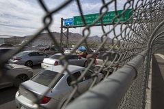 Texas - El Paso - die Grenze Lizenzfreies Stockfoto
