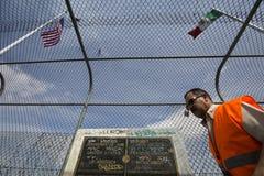 Texas - El Paso - die Grenze Stockbild
