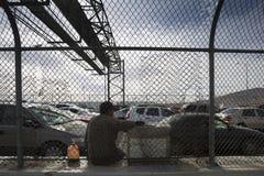 Texas - El Paso - die Grenze Lizenzfreie Stockfotos