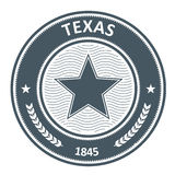 Texas emblem - stamp with star Stock Photography