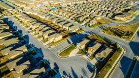 Texas expands more and more homes are built in Modern Neighborhood Communities at Dead End Cul De Sac Royalty Free Stock Photo
