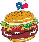 Texas fêz sob medida o hamburguer Fotografia de Stock Royalty Free