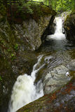 Texas Falls, Vermont, de V.S. Stock Foto's