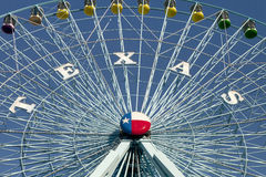 Texas Ferris Wheel. Ferris wheel at the Texas State Fair in Dallas TX Stock Images