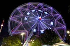 Texas Ferriswheel (natt) arkivfoto