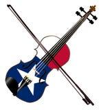 Texas Fiddle With Flag On White ilustração do vetor
