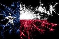 Texas fireworks sparkling flag. New Year 2019 and Christmas party concept. Texas fireworks sparkling flag. New Year 2019 and Christmas party concept royalty free stock images