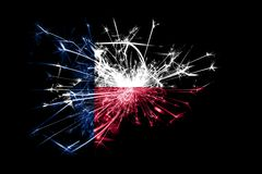 Texas fireworks sparkling flag. New Year 2019 and Christmas party concept. Texas fireworks sparkling flag. New Year 2019 and Christmas party concept stock photos