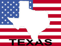 Texas on flag Stock Images