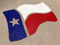 Texas flag background. Texas flag print on the wall background stock photo