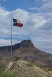 Texas Flag. Big Bend National Park stock photo