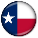Texas flag button. Button with the Flag of Texas state Stock Photography